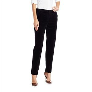 Theory black velvet cropped pants